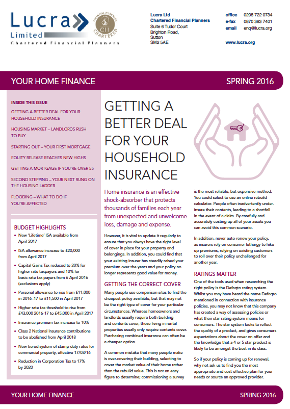 Your Wealth Spring 2016 Newsletter